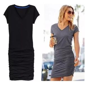 6f6c00fde386 Athleta Dresses - Athleta Black Knit Fitted Tee Shirt Dress Sz XS  S